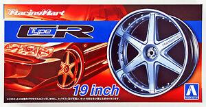 Aoshima 53935 Tuned Parts 60 1/24 Racing Hart Type CR 19 inch Tire & Wheel Set