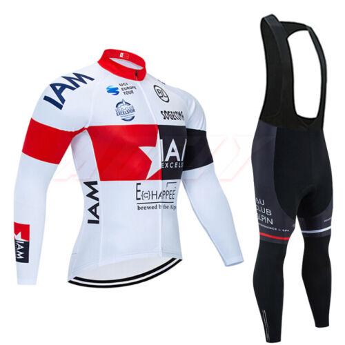 Homme Maillot de cyclisme à manches longues enchère Pantalon Full Fermeture éclair vélo Bike Racing Jacket