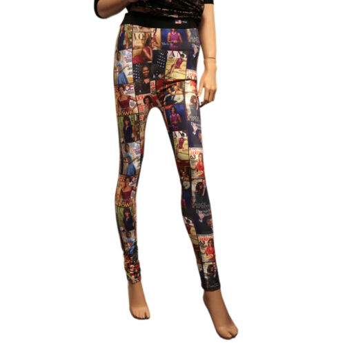 Obama Magazine Cover Collage Leggings for women Workout Running Yoga Pants