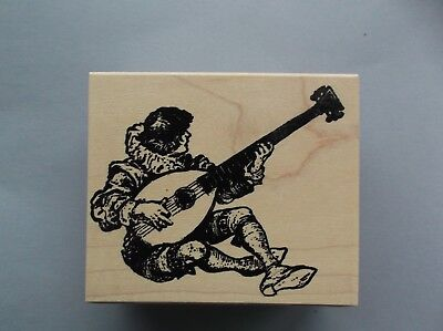 wood mounted rubber stamp JITTER BUG