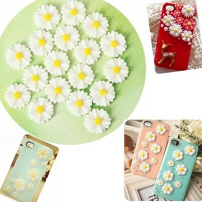 20-100pc Craft Resin Daisy Sunflower Flower Flat Back Scrapbooking on Phone Card