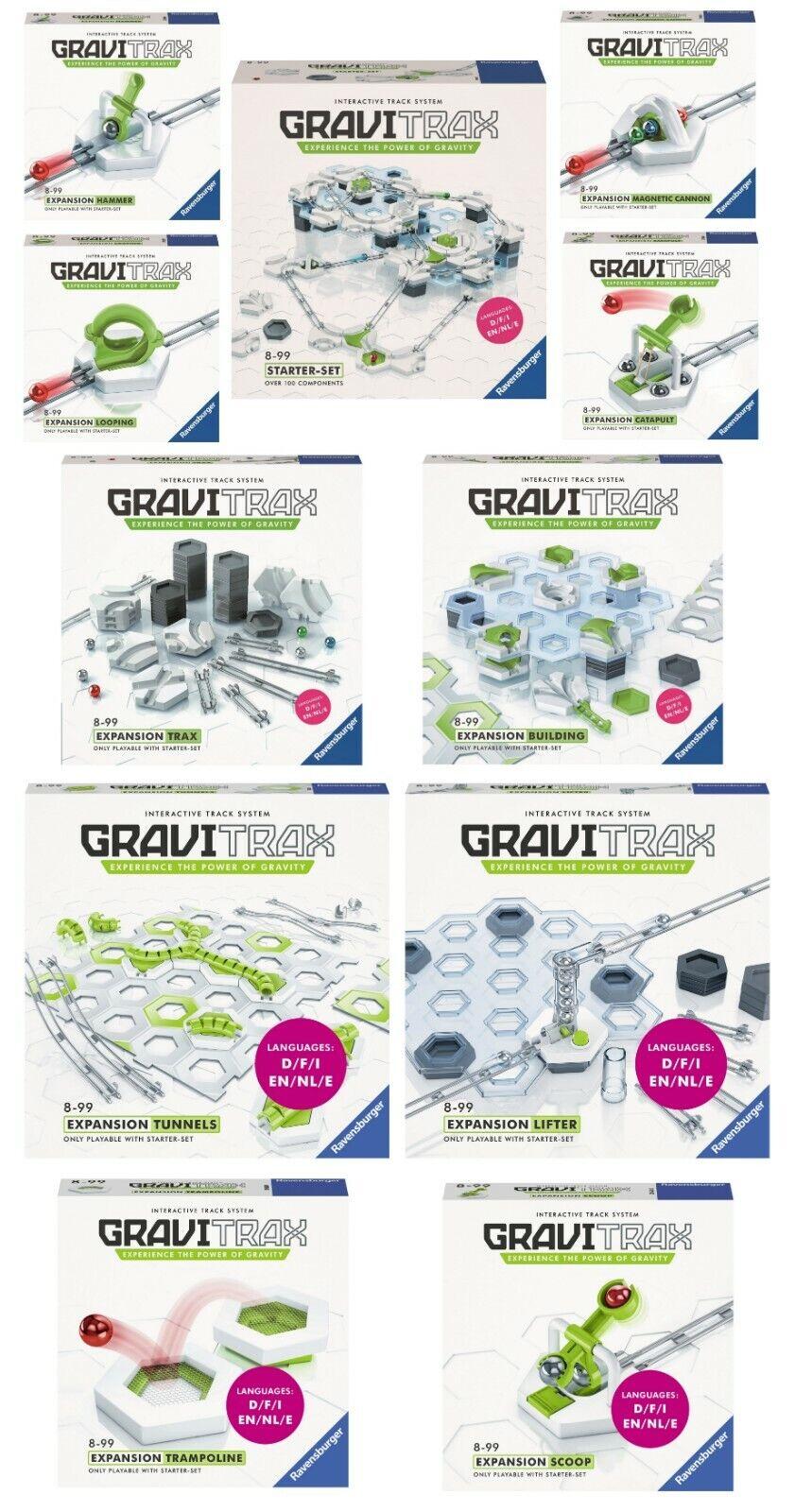 Ravensburger GRAVITRAX PACK - STARTER SET +  10 EXTENSIONES GRAVITRAX EXPANSION