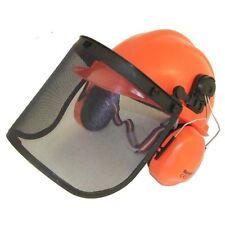Chainsaw Brushcutter Safety Helmet Cw Metal Mesh Full Visor & Chinstrap