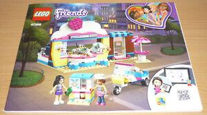 Amical Lego Friends Plan De Bâtiment Pour 41366, Only Instruction-afficher Le Titre D'origine
