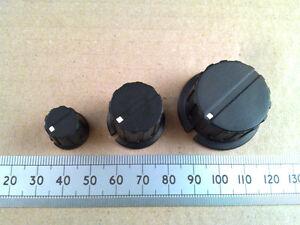 Black-Control-or-Cooker-Knob-6-3mm-0-25-034-Shaft-Flat-Blade-Grub-Screw-Fixing