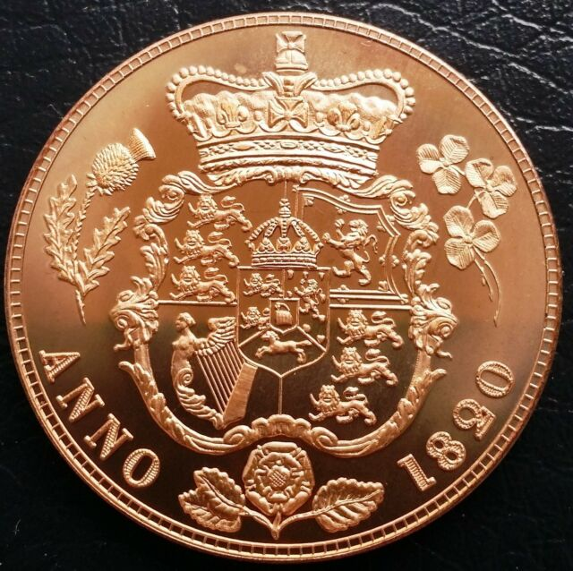UK Great Britain 1820 Retro Pattern Proof Crown Pure Copper  George IV Coin