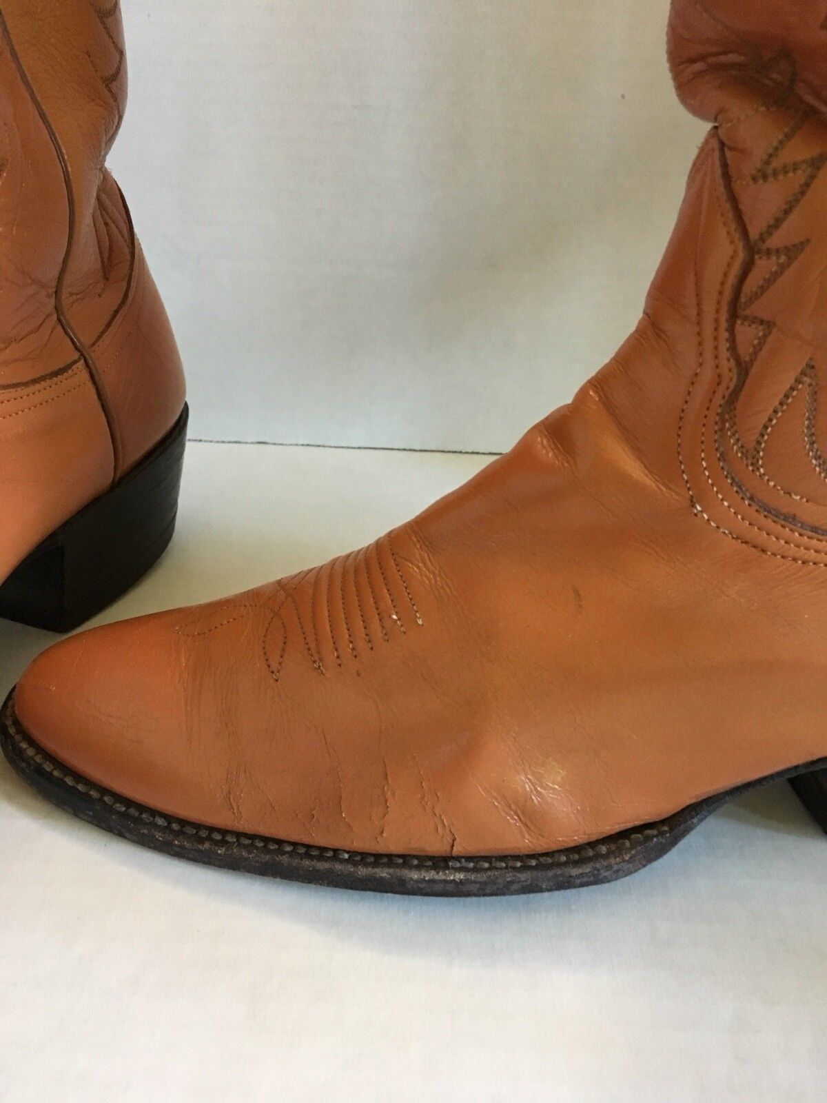 Men's Nocona Texas Western Cowboy Boot Inserts Braun 9.5 B Metal Inserts Boot Included af1437