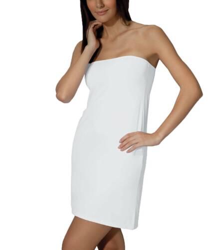 Doreanse Damen Unterkleid Mini Bandeu-Kleid mit Verstellbaren Trägern S-XXL