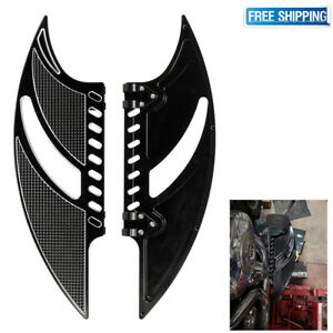 CNC-Flame-Driver-Front-Floorboards-Pedals-Stretched-Insert-for-Harley-Touring