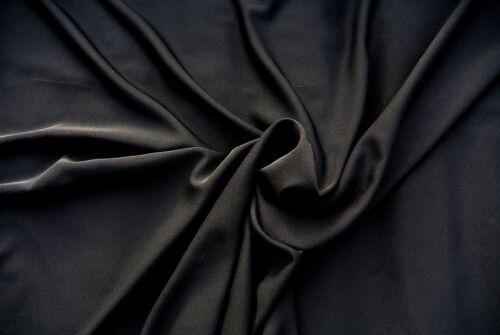 BLACK GABARDINE WEAVE LUXURY 100/% MICOFIBER SUPER LIGHT WEIGHT FLOWING DRAPE AA9