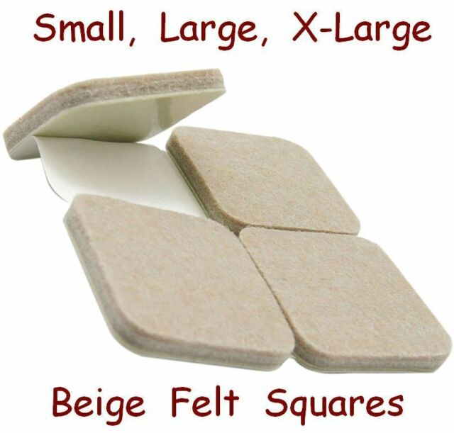 BEIGE Furniture FELT Pads - Adhesive Laminate & Wooden Floor Protective Squares