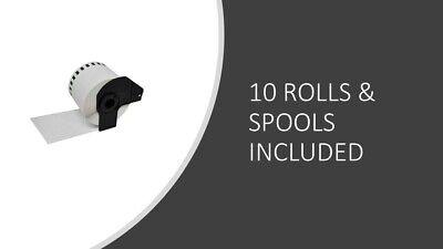 5x Brother Compatible DK22205 Printer Labels 62mm Roll+Spool for QL560 QL-560