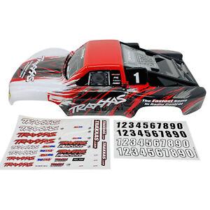 Traxxas Slash 2WD VXL 4X4 rouge/blanc carrosserie carrosserie 5824R W decals-Neuf