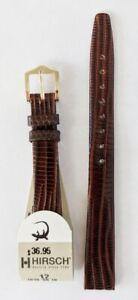 12mm Hirsch Genuine Reptile Brown Unstitched Ladies Watch Band
