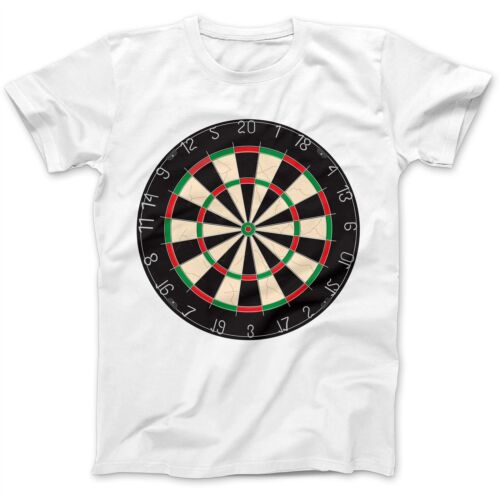 Dartboard Darts Dart Player T-Shirt 100/% Premium Cotton Phil Taylor Van Gerwen