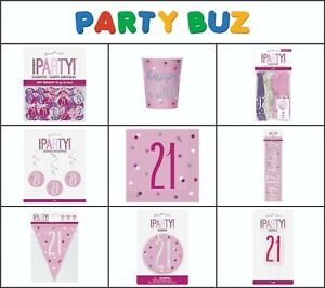 Table Cover BLING Party Decorations and Tableware for 21st Birthday in PINK Glitz