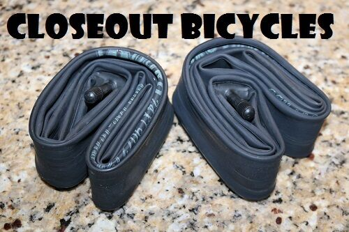 """2 x 24/"""" inch Inner Bike Tube 24 x 1.75-2.125 Bicycle Rubber Tire Interior BMX"""