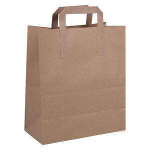 Image Is Loading Medium Brown Kraft Craft Paper Sos Carrier Bags