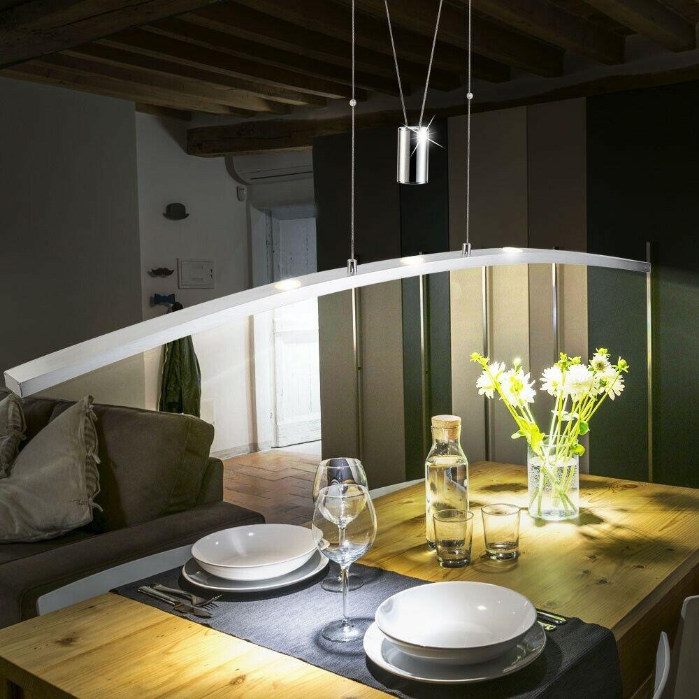 LED Decken Pendel Hänge Lampe ALU Leuchte Höhenverstellbar Wohn Schlaf Zimmer