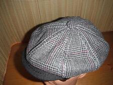 Stetson WOOL BLEND 8 Panel Button Top Newsboy Cabbie cap hat MEDIUM