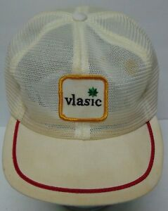RARE-Vintage-1980s-VLASIC-ADVERTISING-PATCH-ALL-MESH-TRUCKER-HAT-CAP-MADE-IN-USA