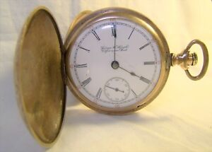 Antique-Hamilton-1901-17-Jewel-Side-Wind-Lever-Set-Contract-Working-Pocket-Watch