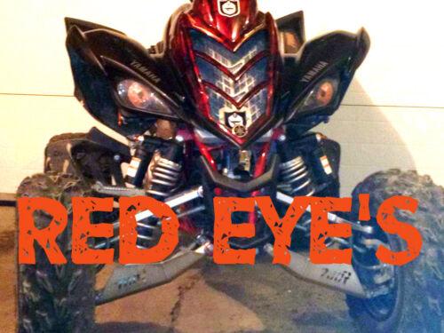 Raptor Yamaha YFZ 450 RED EYES  HeadLight Covers RUKINDCOVERS