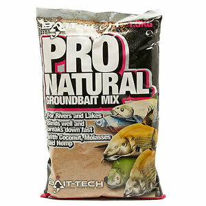 bait-tech pro natural groundbait mix dark extra carp match fishing, Hard Baits