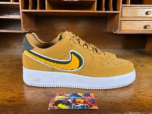 7cd34e4db96c Nike Air Force 1  07 LV8 Low Muted Bronze Yellow Ochre White 823511 ...
