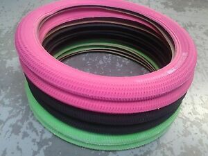 GUSSET-PIMP-BMX-TYRE-Pink-Black-or-Green-Flatland-20-FIT-ANY-BMX-BIKE-TYGUP0