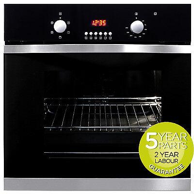 MyAppliances REF28701 60cm Black Glass Built-in Single Electric True Fan Oven