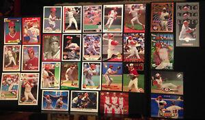Barry-Larkin-Cincinnati-Reds-34-ct-1990s-Baseball-Card-Lot-HOF-Hall-of-Famer