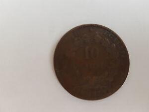 Frankreich : 10 Centimes 1870 / Oldine - Köln, Deutschland - Frankreich : 10 Centimes 1870 / Oldine - Köln, Deutschland