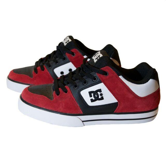 10.5 M US Black//Grey//red DC Men/'s Pure Skate Shoe