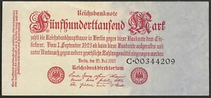 GERMANY-500-000-mark-1923-P-92-Europe-banknote-Edelweiss-Coins