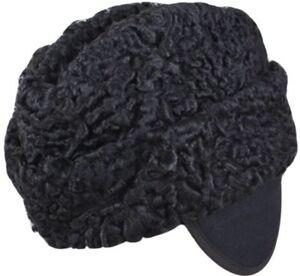 8fd42467ea1 PERSIAN AMBASSADOR HAT BLACK ASTRAKHAN ENVOY SMALL 54-55cm LAMBSKIN ...