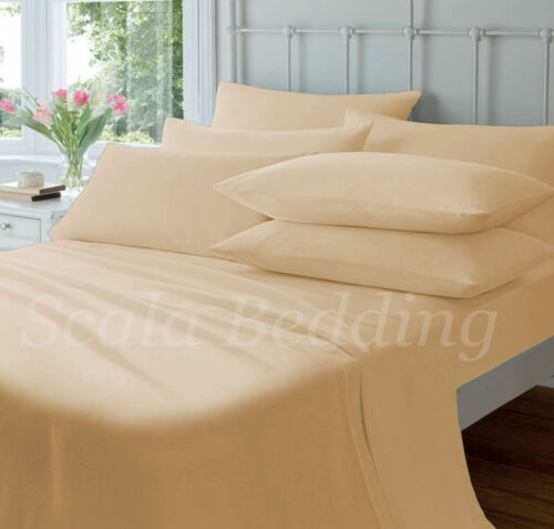 800-TC SOLID 2PC PILLOW SHAMS 100/% EGYPTIAN COTTON ALL SIZE /& COLOR BODY//EURO