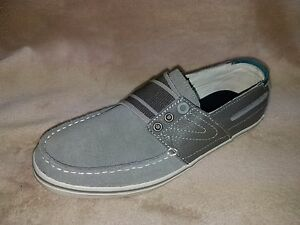 Details about Tretorn Eco Ortholite Boat Shoes Casual Suede Leather Canvas Pewter Unisex New
