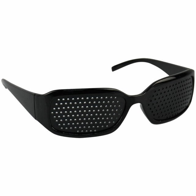 f31328dd3819 Black Eyesight Improvement Vision Care Exercise Eyewear Pinhole Glasses  Training