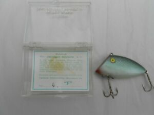Vintage-Swimmin-Minnow-in-plastic-box-with-tag-insert-Old-Fishing-Lure