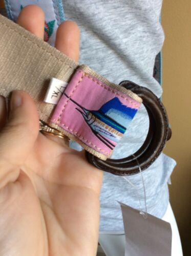 Guy Harvey Ladies Belt Pink Swordfish Or Blue Hibiscus Swordfish NWT