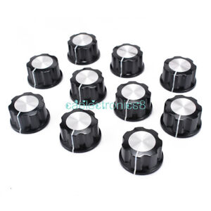 5PCS-16mm-Top-Rotary-Control-Turning-Knob-for-Hole-6mm-Dia-Shaft-Potentiometer