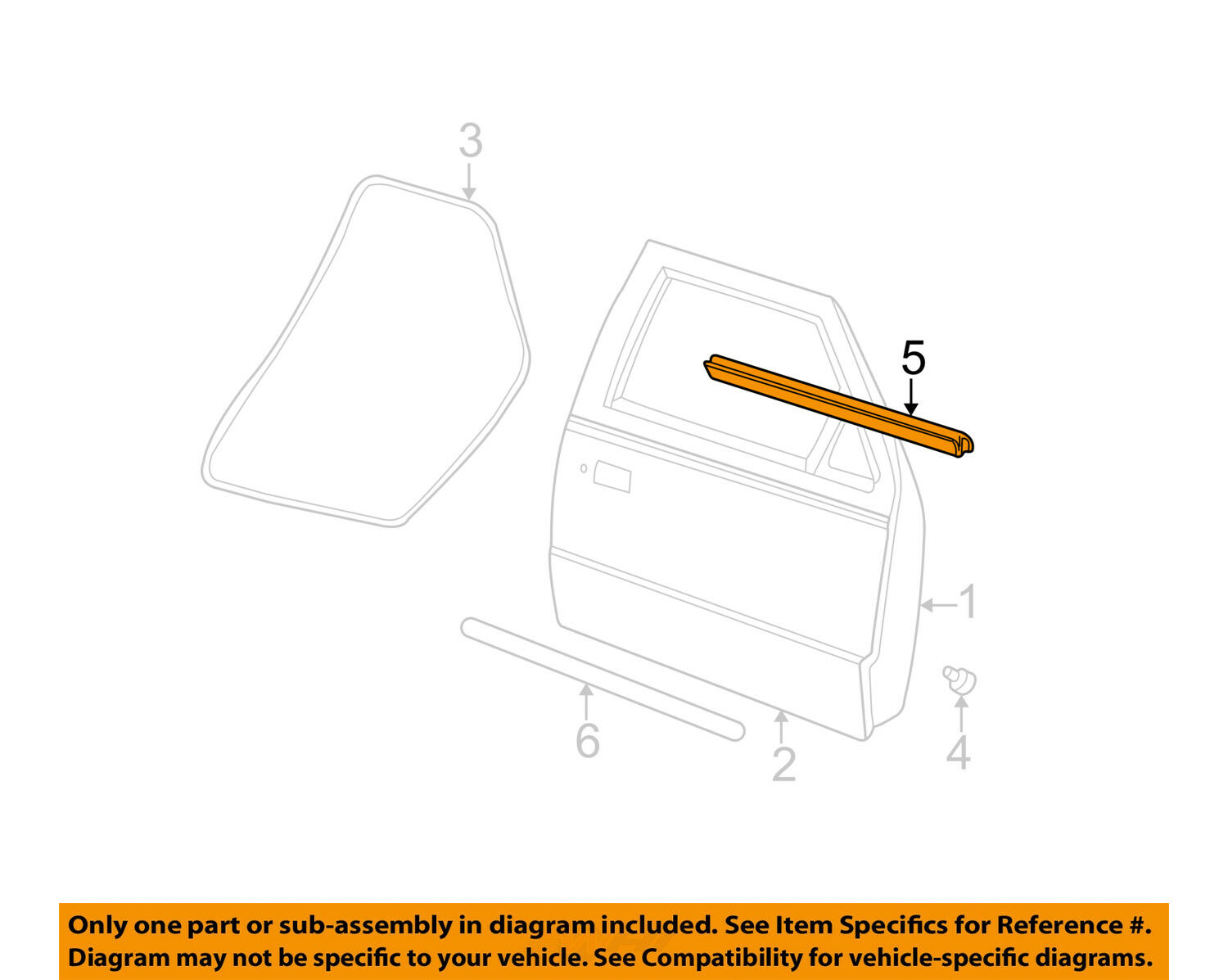 Genuine Ford 6L5Z-1021453-AA Door Weatherstrip