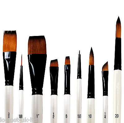 DALER ROWNEY GRADUATE ARTISTS PAINT BRUSHES - ALL TYPES ACRYLIC WATERCOLOUR OIL