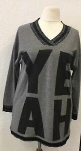 Pulli Damen Übergrösse Xxl Shirt Grau Sweatshirt Pullover Aprico Langarm Schwarz 5XxqpUgB