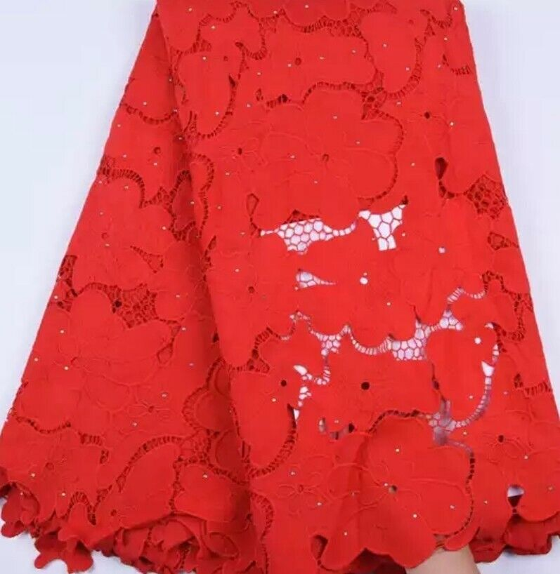 Elegant African Wedding Guipure Cord Lace Fabric High Quality