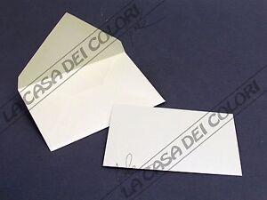 FAVINI - BIGLIETTO + BUSTA - 11x8cm - METALLIZZATO - VERDE - 5 PEZZI
