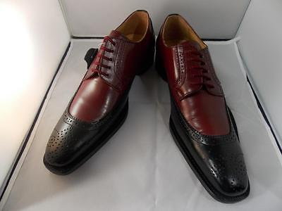 New Men's Liberty Leather Two Tone Dress Shoes Tan/Gray,Black/Burgundy, LS 821