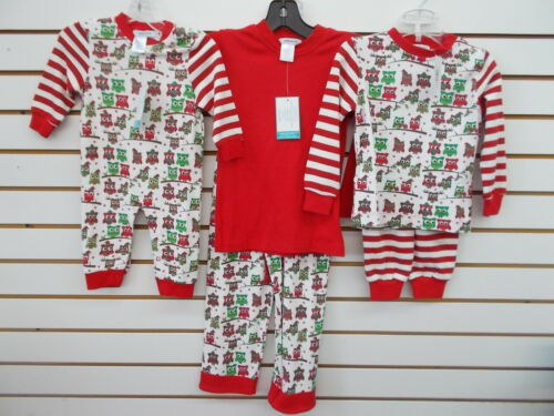 10 Infant /& Girls Gabiano Assorted Holiday Owl Pajamas Size 3 Months