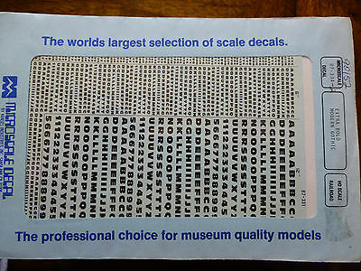 Microscale Decal #90152 Extra Bold Modern Gothic (Black) 1:87 Scale